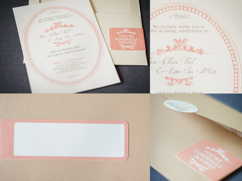 wedding card printing malaysiprice%0A Vintage Chic with matte wheat  and matte oak  envelope